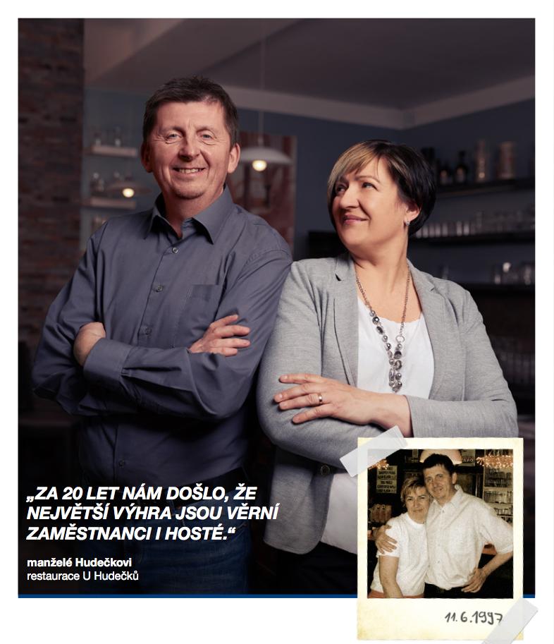 Jsme hrdi na to, že jsme stálí partneři už 20 let. Hana a Martin Hudečkovi